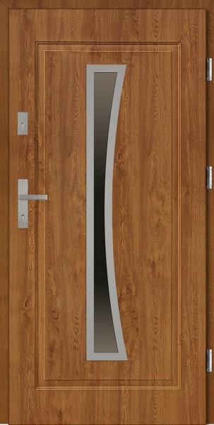 Drzwi stalowe wejściowe złoty dąb Raffaello 68 SETTO