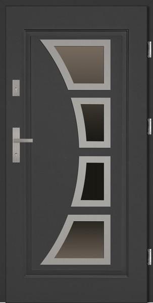 Drzwi stalowe wejściowe antracyt Mario 68 SETTO