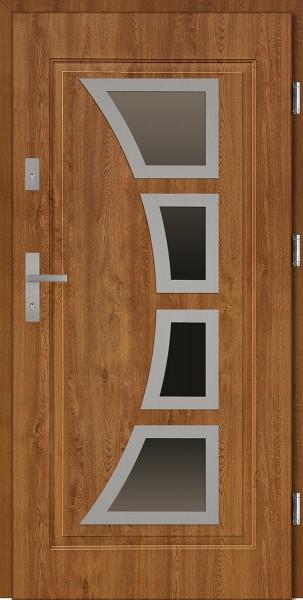 Drzwi stalowe wejściowe złoty dąbt Mario 68 SETTO