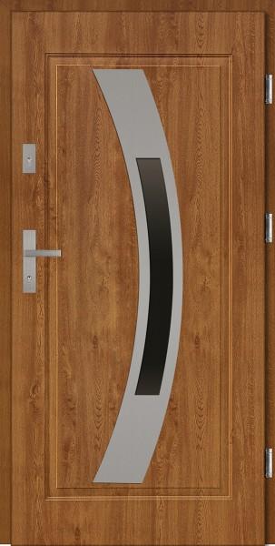 Drzwi stalowe złoty dąb z przeszkleniem Antonio 68 marki SETTO