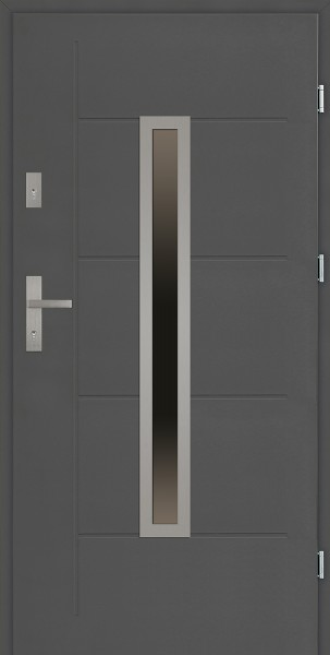 Drzwi zewnętrzne 90 cm antracyt z tłoczeniem Dario Modern marki SETTO