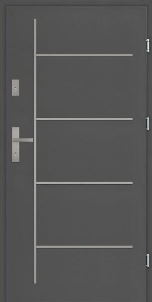 Drzwi zewnętrzne antracyt Aplikacja 6 Modern SETTO