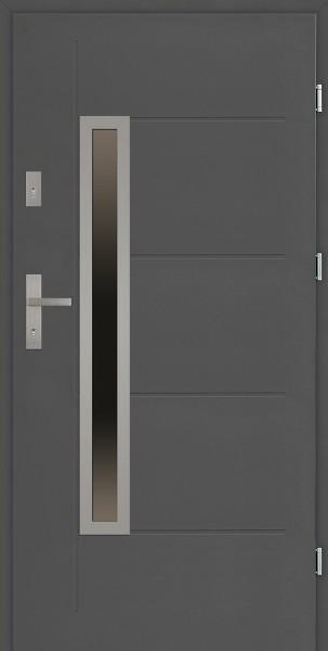 Drzwi zewnętrzne antracyt z tłoczeniem Dario Uno Modern SETTO