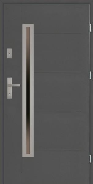 Drzwi zewnętrzne do domu z przeszkleniem Paolo Uno Modern SETTO