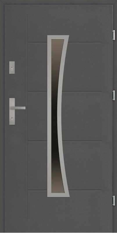 Drzwi zewnętrzne antracyt tłoczone Raffaello Modern SETTO