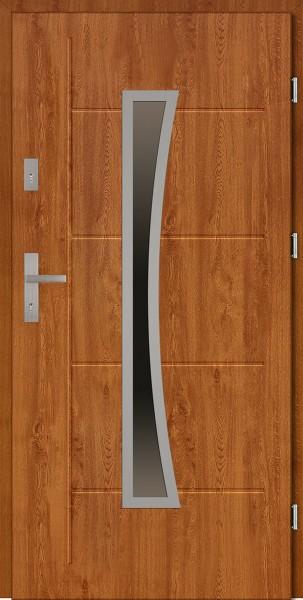 Drzwi zewnętrzne złoty dąb tłoczone Raffaello Modern SETTO