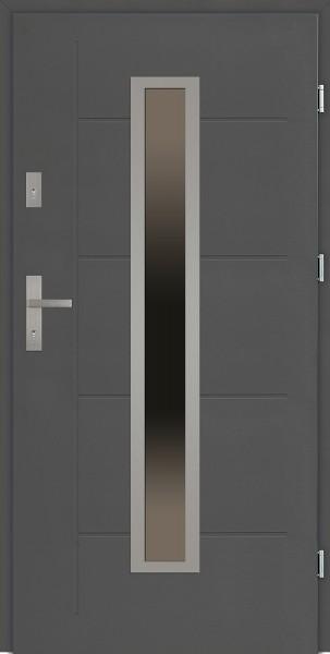 Drzwi zewnętrzne 90 cm z tłoczeniem Diego Modern SETTO