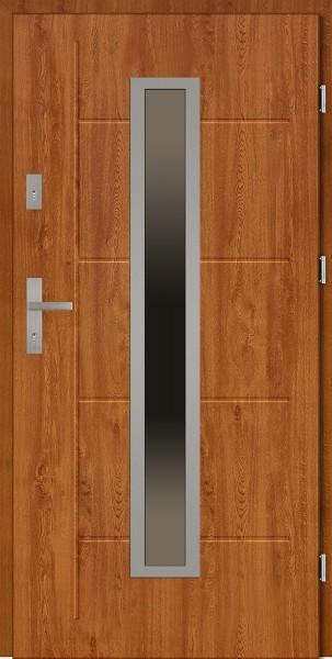 Drzwi zewnętrzne 90 cm złoty dąb Diego Modern SETTO