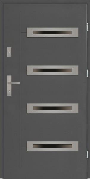Drzwi zewnętrzne z 4 szybami antracyt Angelo 4 Due Modern SETTO