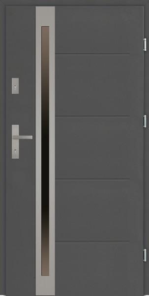 Drzwi zewnętrzne 90 cm antracyt Marcello Uno Modern SETTO