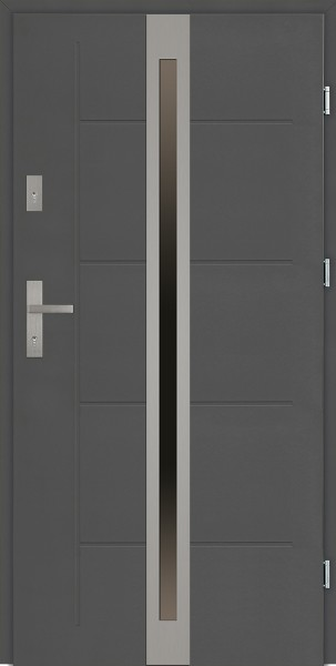 Drzwi zewnętrzne antracyt z szybą Marcello Modern SETTO