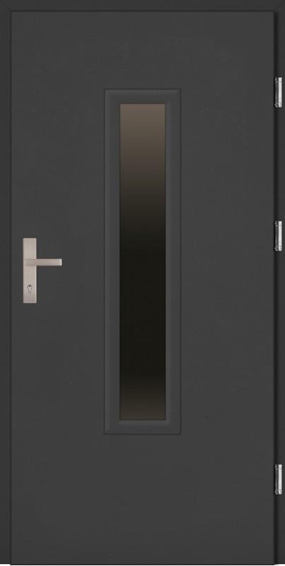 Drzwi wejściowe antracyt ramka PCV Marco Plus 68 mm SETTO