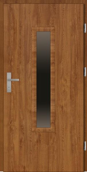 Drzwi wejściowe złoty dąb ramka PCV Marco Plus 68 mm SETTO