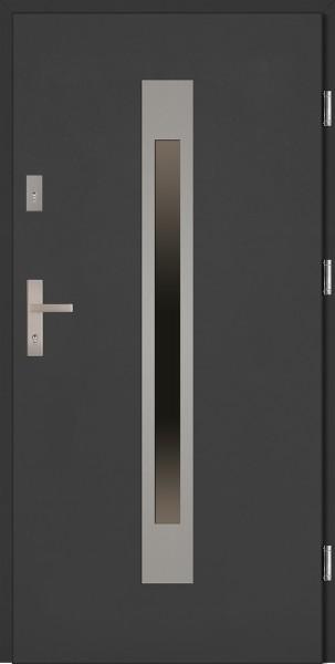 Drzwi zewnętrzne antracyt 56 mm szyba reflex Fabio Classico SETTO
