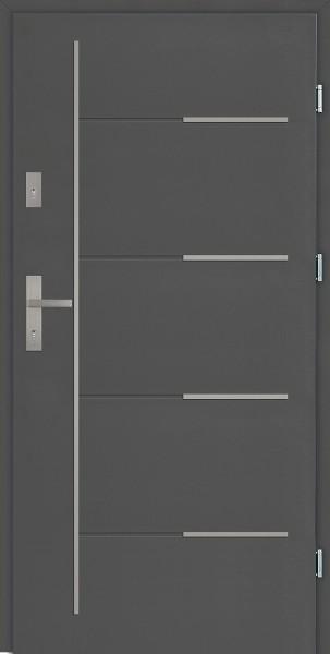 Drzwi zewnętrzne antracyt 90 cm Aplikacja 7 Modern