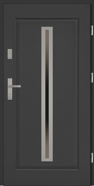 Drzwi stalowe zewnętrzne antracyt Paolo marki SETTO