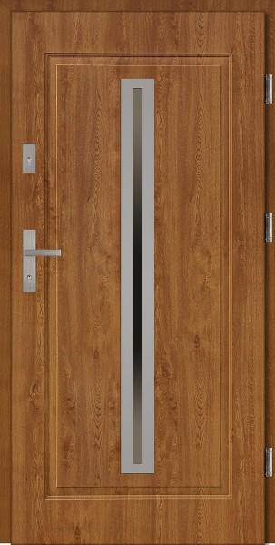 Drzwi stalowe zewnętrzne złoty dąb Paolo marki SETTO