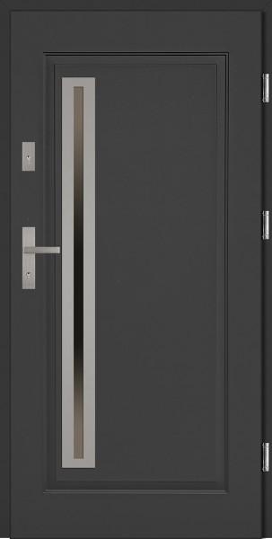 Drzwi stalowe zewnętrzne antracyt Paolo Uno marki SETTO