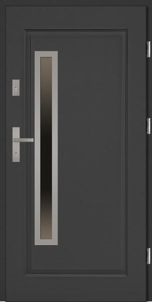 Drzwi stalowe zewnętrzne antracyt Dario Uno marki SETTO