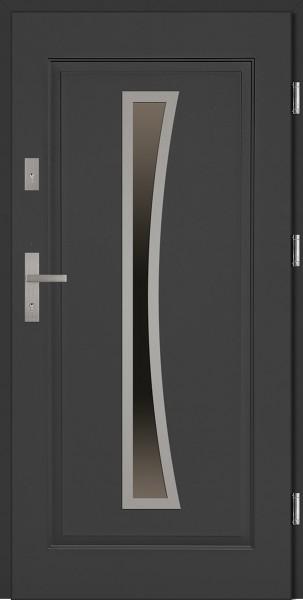 Drzwi stalowe zewnętrzne antracyt Raffaello SETTO