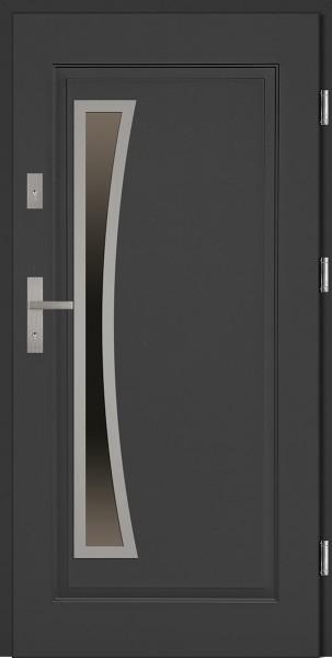 Drzwi stalowe zewnętrzne antracyt Raffaello Uno SETTO