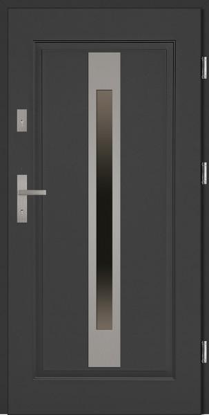 Drzwi stalowe zewnętrzne antracyt Fabio SETTO
