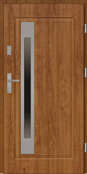 Drzwi stalowe zewnętrzne złoty dąb Fabio Uno marki SETTO
