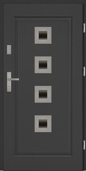 Drzwi stalowe zewnętrzne antracyt Carlo SETTO