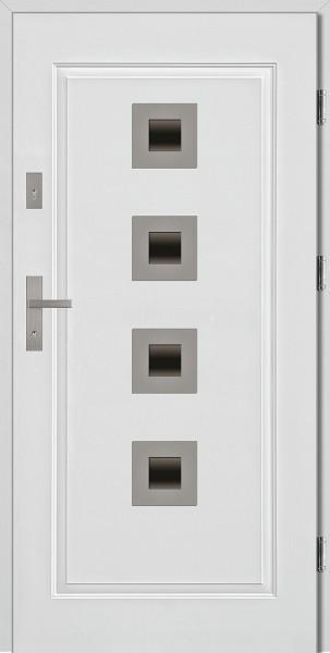 Drzwi stalowe zewnętrzne białe Carlo SETTO