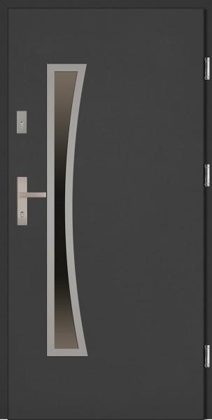 Drzwi wejściowe antracyt Raffaello Uno Classico SETTO