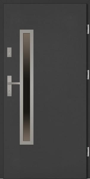 Drzwi stalowe zewnętrzne antracyt Dario Uno Classico marki SETTO