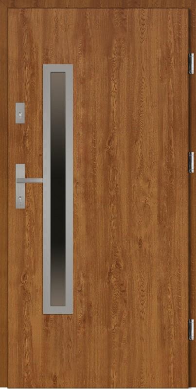 Drzwi stalowe zewnętrzne złoty dąb Dario Uno Classico marki SETTO