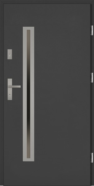 Drzwi zewnętrzne szare antracyt Paolo Uno Classico SETTO