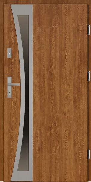 Drzwi zewnętrzne brązowe złoty dąb Ivo Uno Classico SETTO