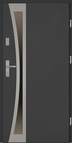 Drzwi zewnętrzne szare antracyt Ivo Uno Classico SETTO