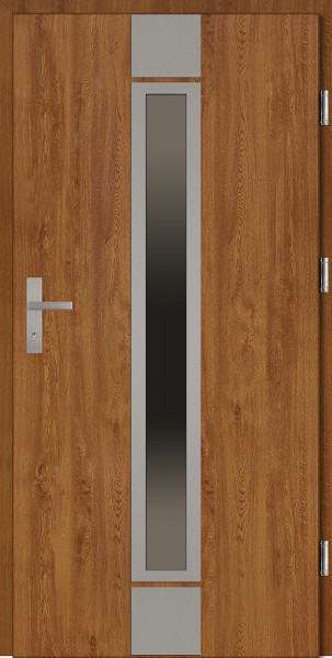 Drzwi wejściowe złoty dąb Alfredo Plus Grande Plus SETTO