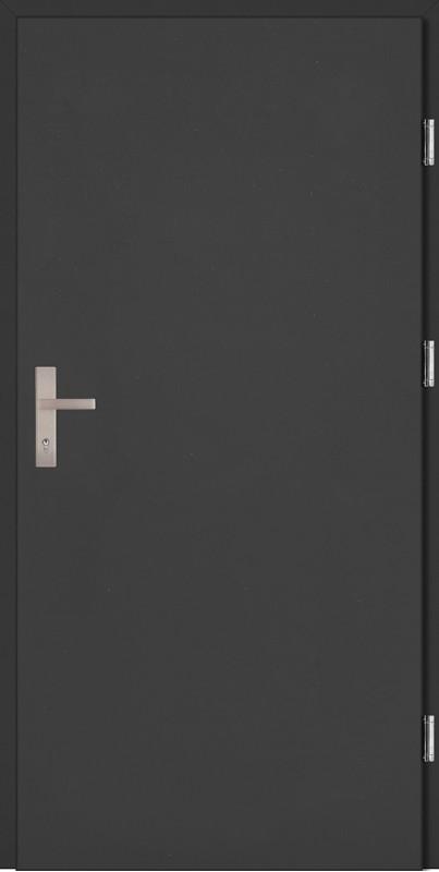 Drzwi zewnętrzne wejściowe antracyt Pełne Plus
