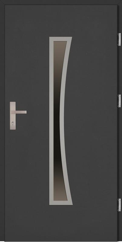 Drzwi zewnętrzne wejściowe antracyt Raffaello Plus 68 mm