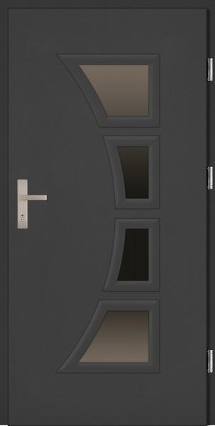 Drzwi zewnętrzne wejściowe antracyt PCV Arco 68 mm