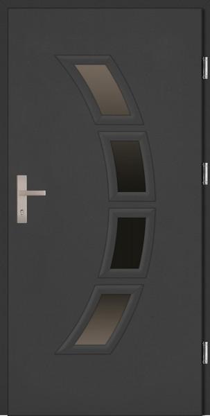 Rombo PlusDrzwi zewnętrzne wejściowe antracyt PCV Rombo 68 mm