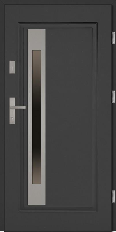 Drzwi wejściowe stalowe INOX Fabio Uno 68
