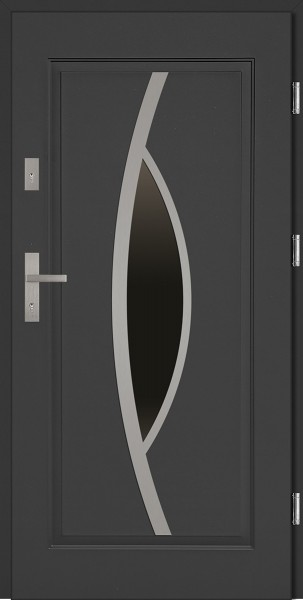 Drzwi zewnętrzne do domu antracyt INOX Lorenzo 56 mm