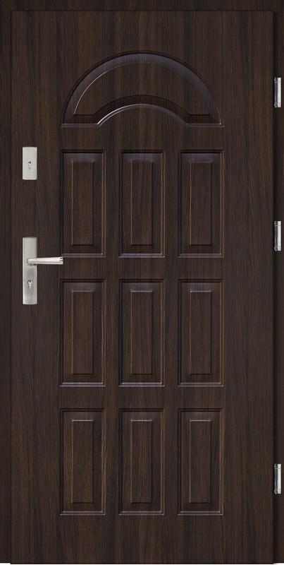 Drzwi wejściowe stalowe wenge JW3 Pełne 56 mm