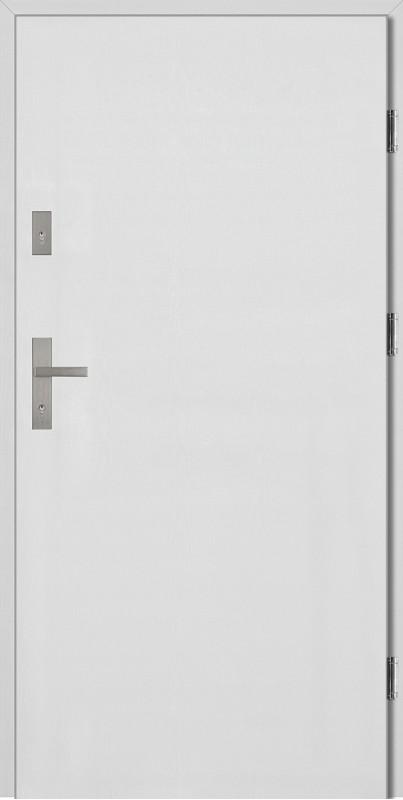 Drzwi wejściowe białe Pełne SETTO z kolekcji Grande 68 Płaskie