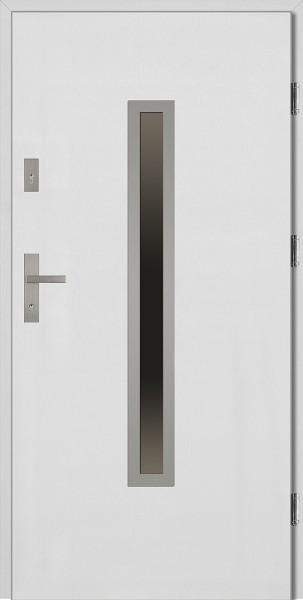 Drzwi wejściowe białe Dario Płaskie SETTO