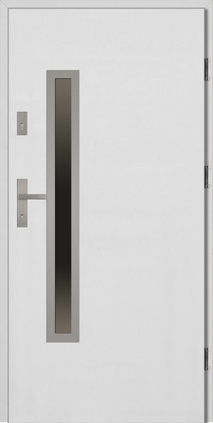 Drzwi wejściowe białe Dario Uno Płaskie SETTO