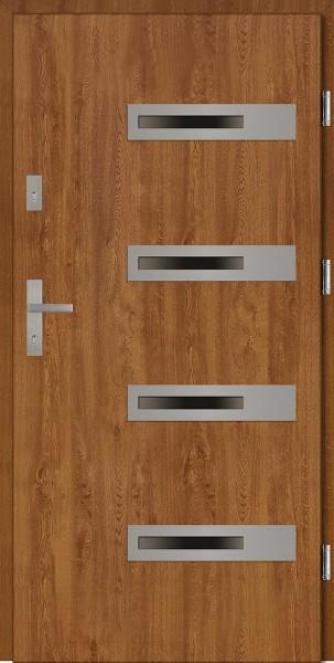 Drzwi zewnętrzne złoty dąb Armando 4 Due Classico SETTO
