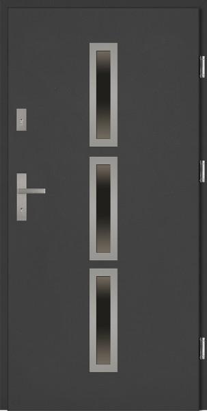 Drzwi wejściowe antracyt 90 cm Valentino Płaskie SETTO