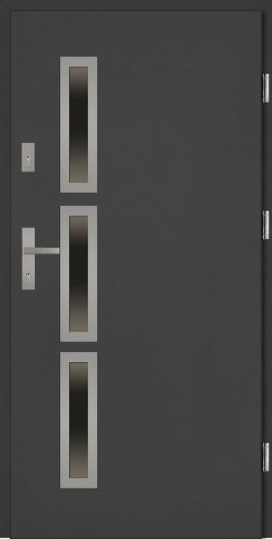 Drzwi wejściowe antracyt 90 cm Valentino Uno Płaskie SETTO