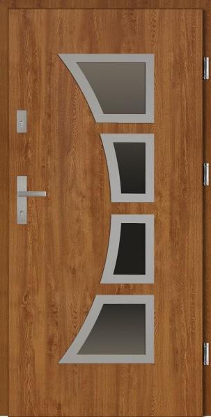 Drzwi wejściowe złoty dąb Mario Płaskie SETTO